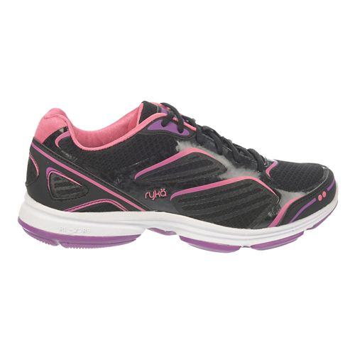Womens Ryka Devotion Plus Walking Shoe - Black/Cool Mist Grey 10.5