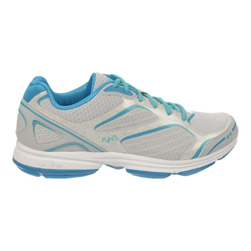 Womens Ryka Devotion Plus Walking Shoe - Cool MistGrey/Malibu 7.5
