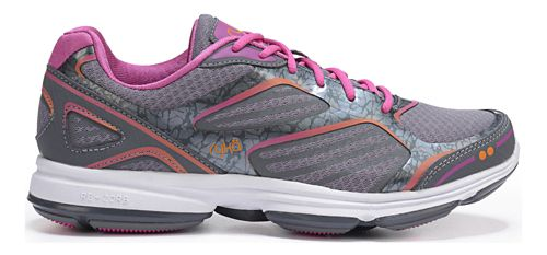 Womens Ryka Devotion Plus Walking Shoe - Grey/Rhythm Orange 9