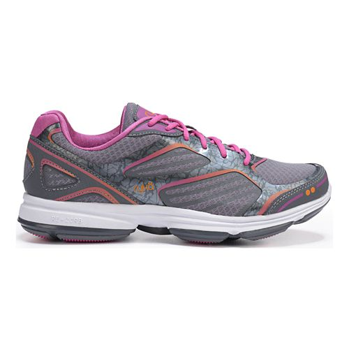 Womens Ryka Devotion Plus Walking Shoe - Grey/Rhythm Orange 6.5