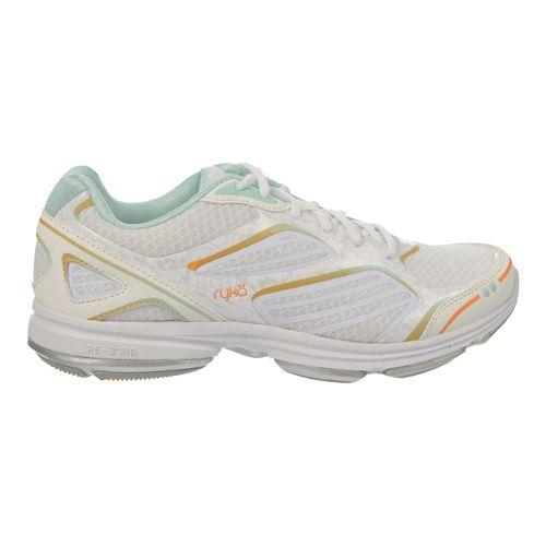 Womens Ryka Devotion Plus Walking Shoe - White/Orange Ice 9