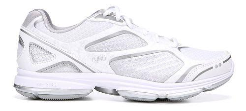 Womens Ryka Devotion Plus Walking Shoe - White/Chrome Silver 6