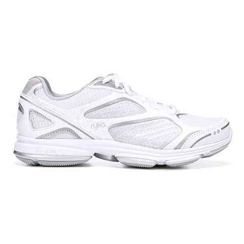Womens Ryka Devotion Plus Walking Shoe - White/Chrome Silver 5.5