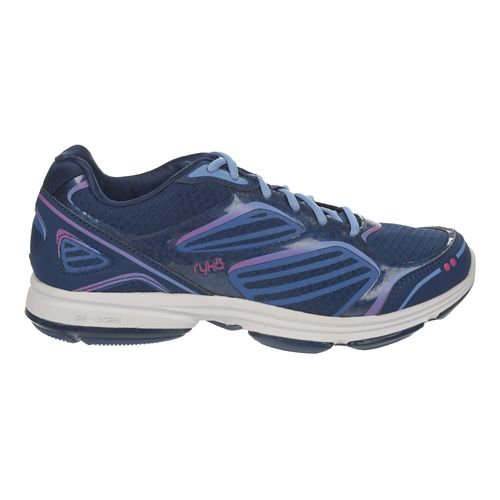 Womens Ryka Devotion Plus Walking Shoe - Jet Ink Blue/Blue 8.5