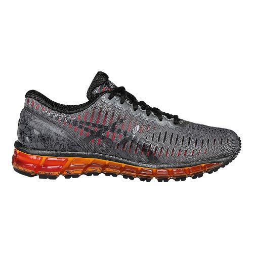 Mens ASICS GEL-Quantum 360 Running Shoe - Carbon/Orange 9