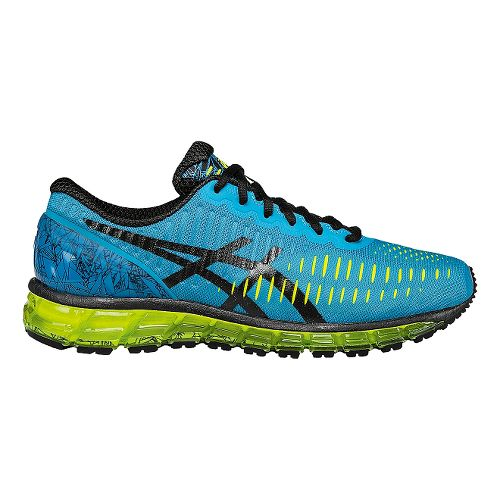 Mens ASICS GEL-Quantum 360 Running Shoe - Turquoise/Yellow 8.5