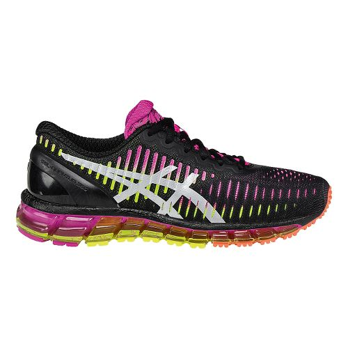 Womens ASICS GEL-Quantum 360 Running Shoe - Black/Pink 8.5