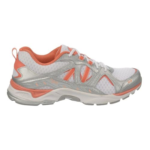 Womens Ryka Revenant Walking Shoe - White/Peach Nectar 7.5