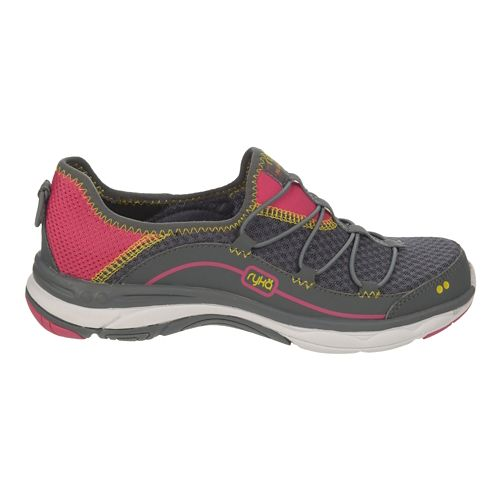 Womens Ryka Feather Pace Walking Shoe - Iron Grey/Ryka Pink 9.5