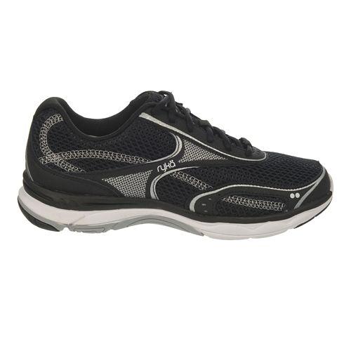 Womens Ryka Feather Walk Walking Shoe - White/Chrome Silver 6
