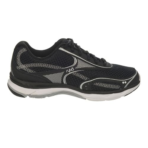 Womens Ryka Feather Walk Walking Shoe - White/Chrome Silver 8