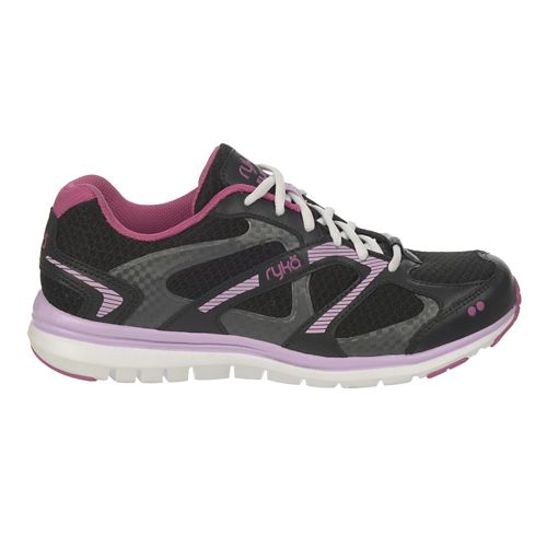 Womens Ryka Elate Walking Shoe - Black/Dahlia Mauve 5