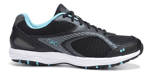 Womens Ryka Dash 2 Walking Shoe - Black/Metallic Iron 10.5