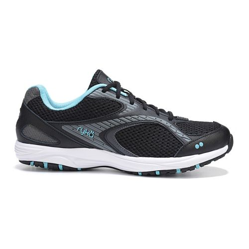 Womens Ryka Dash 2 Walking Shoe - Black/Metallic Iron 7.5