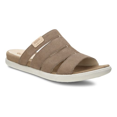 Womens Ecco Damara Slide Sandals Shoe - Birch 35