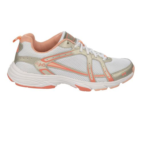 Womens Ryka Approach Cross Training Shoe - White/Steel Gold 5