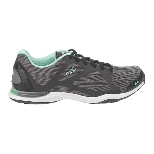 Womens Ryka Grafik Cross Training Shoe - Black/Iron Grey 7.5