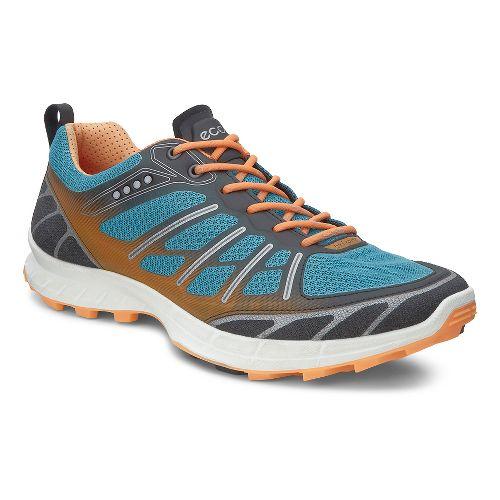 Womens Ecco Biom FL Lite Trail Running Shoe - Black/Pagoda Blue 40