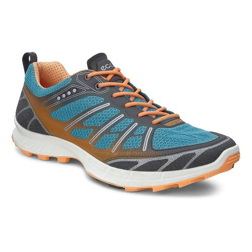 Womens Ecco Biom FL Lite Trail Running Shoe - Black/Pagoda Blue 41
