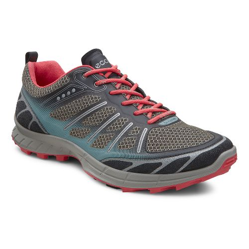 Womens Ecco Biom Trail FL Lite Trail Running Shoe - Black/Ice Flower 41