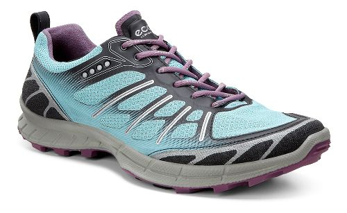 Womens Ecco Biom FL Lite Trail Running Shoe - Black/Grape 40