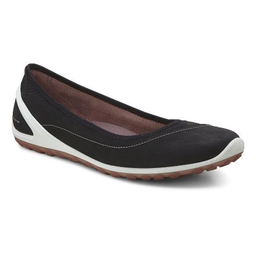 Womens Ecco Biom Lite Ballerina Casual Shoe - Black 38