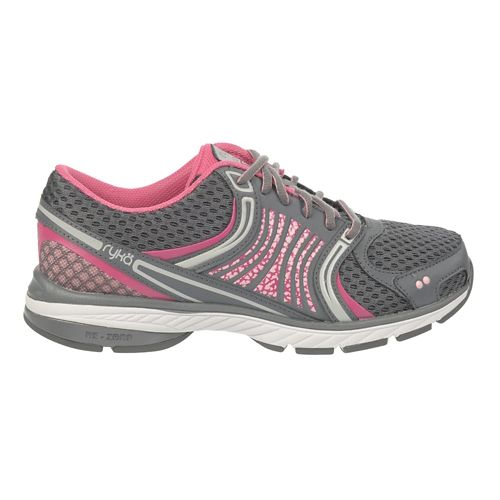Womens Ryka Kora Running Shoe - Steel Grey/CandyPink 10.5