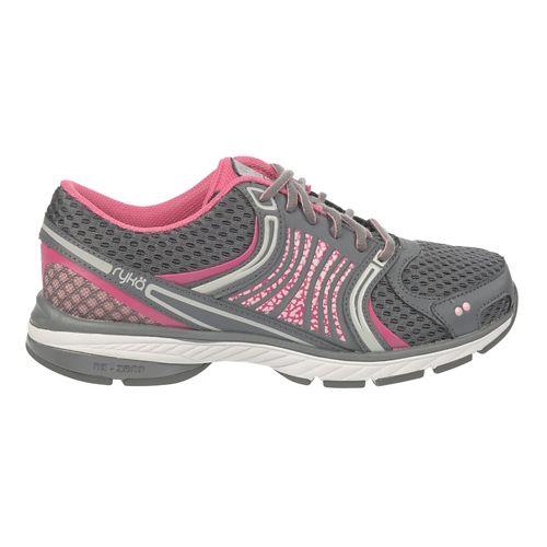 Womens Ryka Kora Running Shoe - Steel Grey/CandyPink 6.5