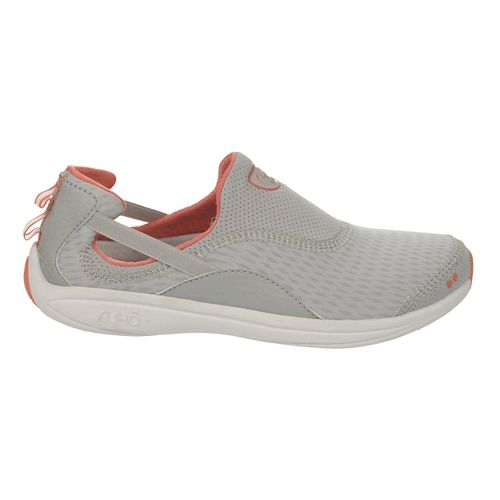 Womens Ryka Swift Casual Shoe - Cool Mist Grey/Coral 7.5