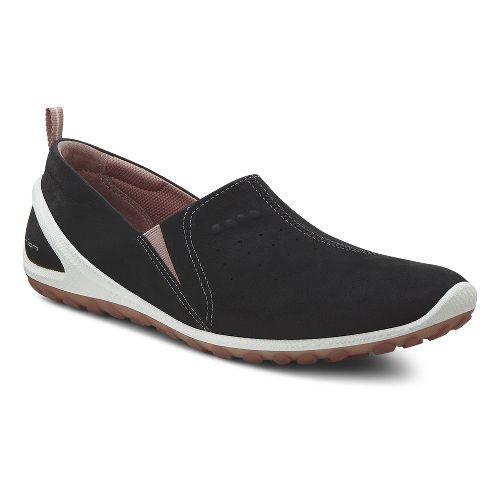 Womens Ecco Biom Lite Slide Casual Shoe - Black/Petal Trim 42