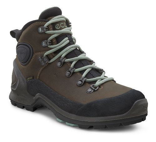 Womens Ecco Biom Terrain High GTX Hiking Shoe - Black/Camel 40