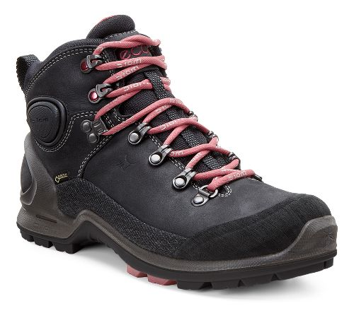 Womens Ecco Biom Terrain High GTX Hiking Shoe - Black/Petal Trim 39