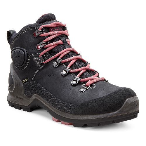 Womens Ecco Biom Terrain High GTX Hiking Shoe - Black/Petal Trim 39