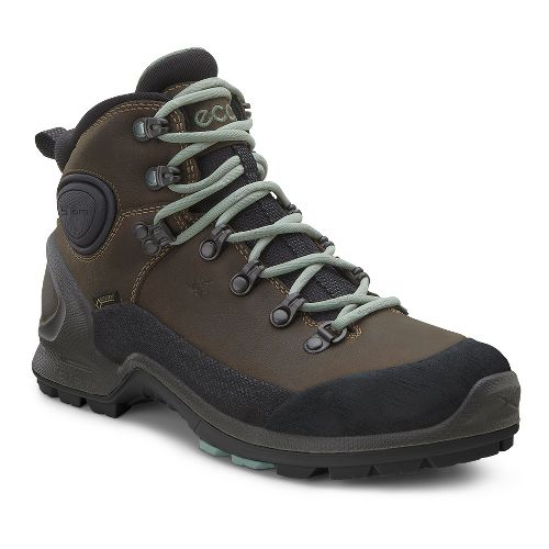 Womens Ecco Biom Terrain High GTX Hiking Shoe - Black/Camel 36