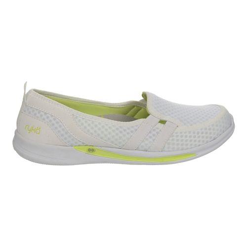 Womens Ryka Lily Casual Shoe - White/Sharp Green 7.5