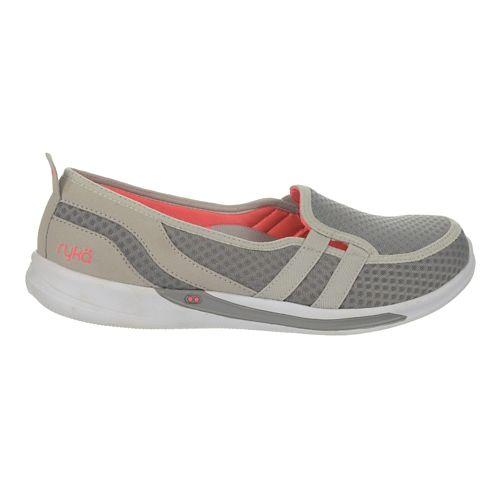 Womens Ryka Lily Casual Shoe - White/Sharp Green 10