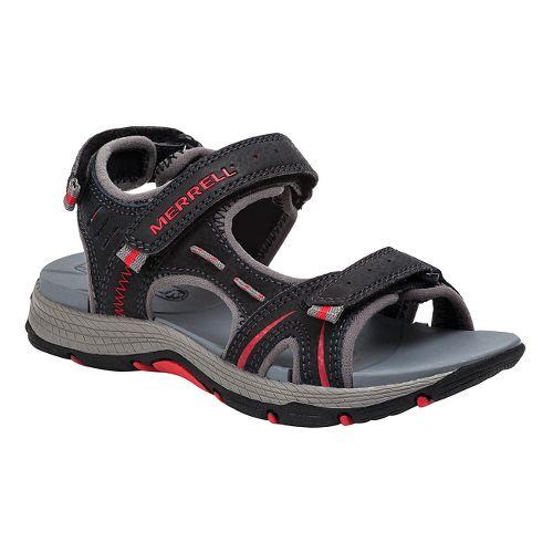 Kids Merrell Panther Sandal School Shoe - Black/Navy 7Y