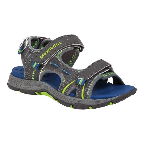 Kids Merrell Panther Sandal School Shoe - Grey/Blue 5Y