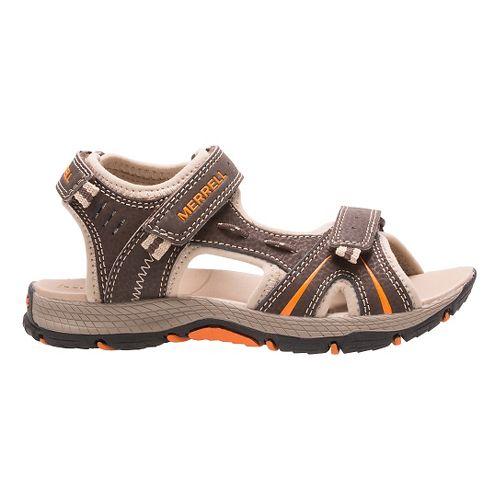 Kids Merrell Panther Sandal School Shoe - Brown/Black 7Y