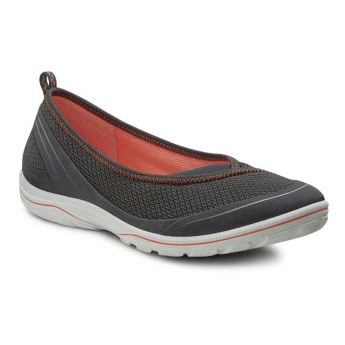 Womens Ecco Arizona Ballerina Casual Shoe - Dark Shadow 39