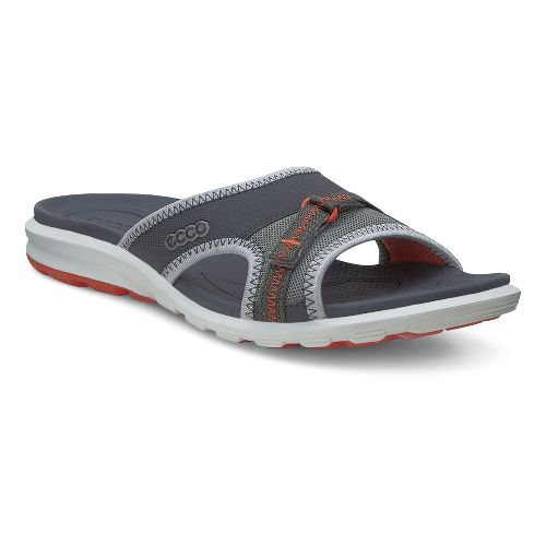 Womens Ecco Cruise Slide Sandals Shoe - Dark Shadow 42