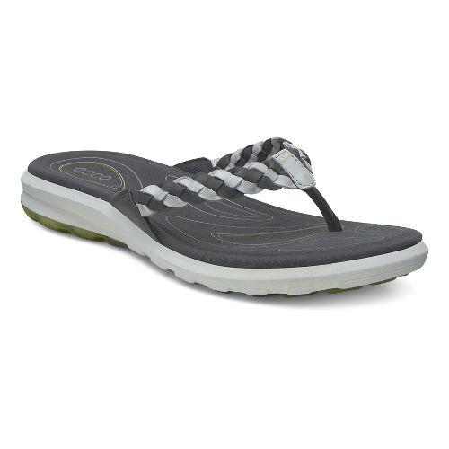 Womens Ecco Cruise Thong Sandals Shoe - Dark Shadow/Concrete 40