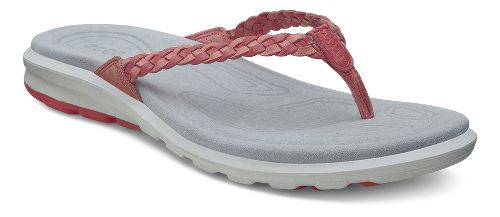 Womens Ecco Cruise Thong Sandals Shoe - Coral/Poppy 37