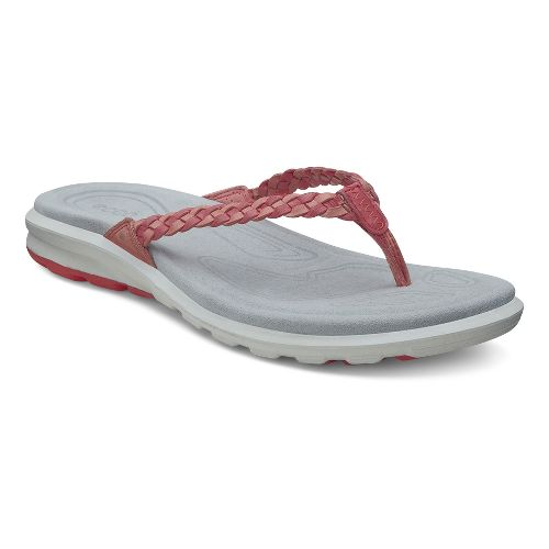 Womens Ecco Cruise Thong Sandals Shoe - Coral/Poppy 35