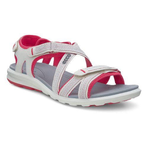 Womens Ecco Cruise Sandals Shoe - Shadow White/Berry 37