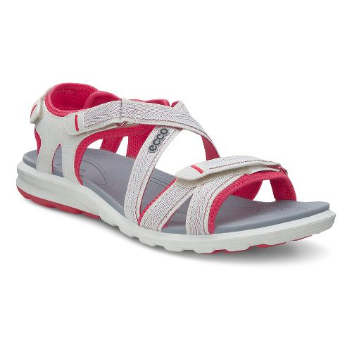Womens Ecco Cruise Sandals Shoe - Shadow White/Berry 39