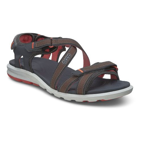 Womens Ecco Cruise Sandals Shoe - Dark Shadow/Coral 37