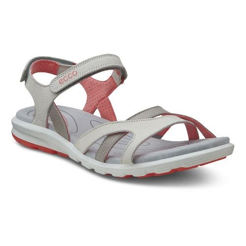 Womens Ecco Cruise Strap Sandals Shoe - Shadow White/Coral 36