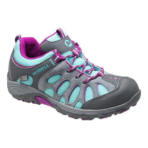 Kids Merrell Chameleon Low Lace Waterproof Hiking Shoe - Blue/Purple 3