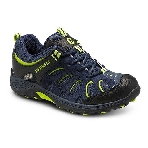 Kids Merrell Chameleon Low Lace Waterproof Hiking Shoe - Navy/Black 13C